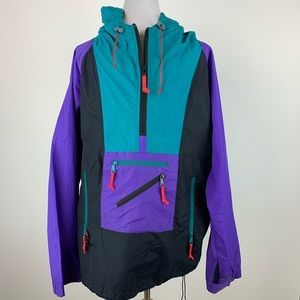 Vintage Sierra Designs Colorblock Pullover Jacket